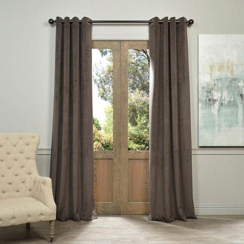 Half Price Drapes Signature Gunmetal Gray 120 x 50-Inch Grommet Blackout Curtain Single Panel