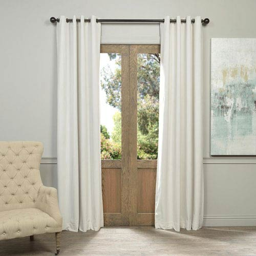 Half Price D Signature Grommet Off White 50 X 108 Inch Blackout Curtain