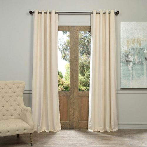 Half Price Drapes Signature Grommet Ivory 50 x 120-Inch Blackout Curtain