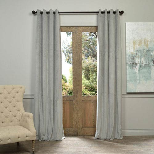 Half Price Drapes Signature Grommet Grey 50 X 96 Inch Blackout Curtain