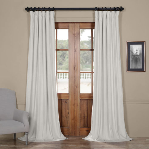 Reflection Gray 84 x 50-Inch Blackout Velvet Curtain