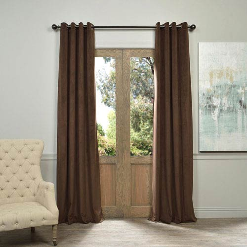 Half Price Drapes Signature Java Grommet Brown 50 x 108-Inch Blackout Curtain