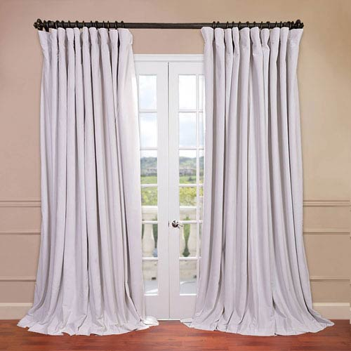 Half Price Drapes Signature Doublewide Off White 100 x 120-Inch Blackout Curtain