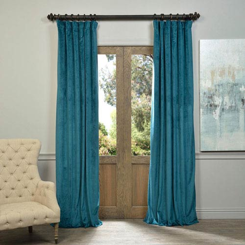 Signature Everglade Teal 120 x 50-Inch Blackout Curtain Single Panel
