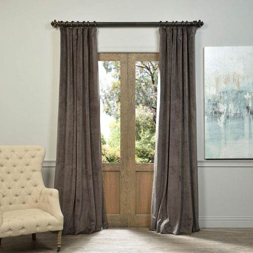Half Price Drapes Signature Gunmetal Gray 108 x 50-Inch Blackout Curtain Single Panel