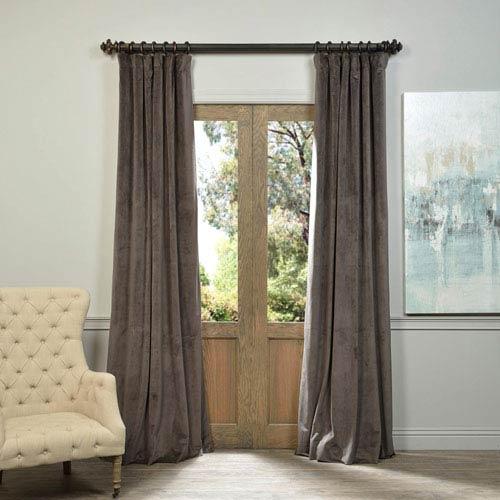 Half Price Drapes Signature Gunmetal Gray 96 x 50-Inch Blackout Curtain Single Panel