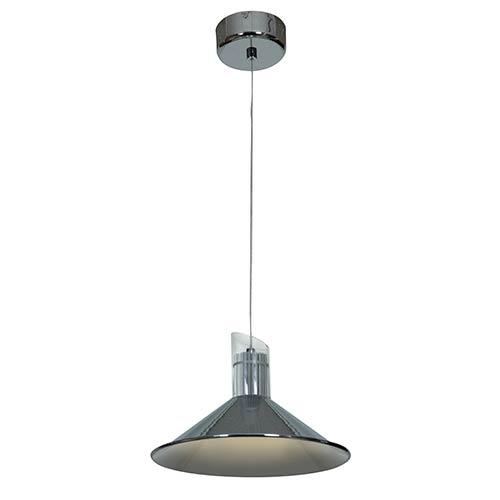 Pulse Chrome 11-Inch Wide LED Dome Pendant