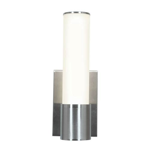 Aqueous Brushed Steel One-Light Wall Fixture