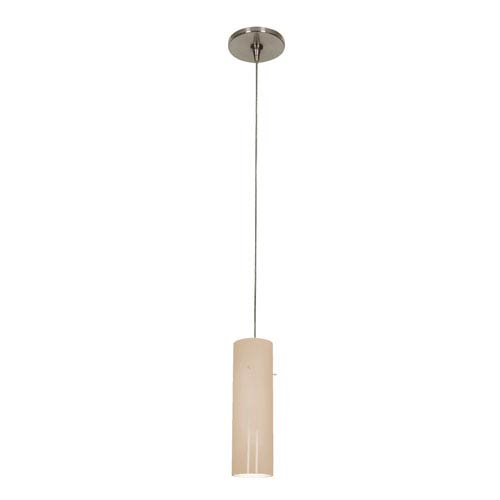 Access Lighting Tungsten Brushed Steel 3-Inch Wide LED Mini-Pendant with Opal Glass