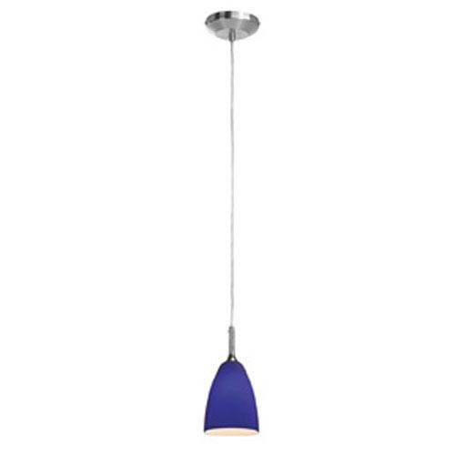 Access Lighting Delta Brushed Steel Line Voltage Mini Pendant with Mania Glass