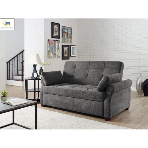 Harriet Convertible Sofa in Grey