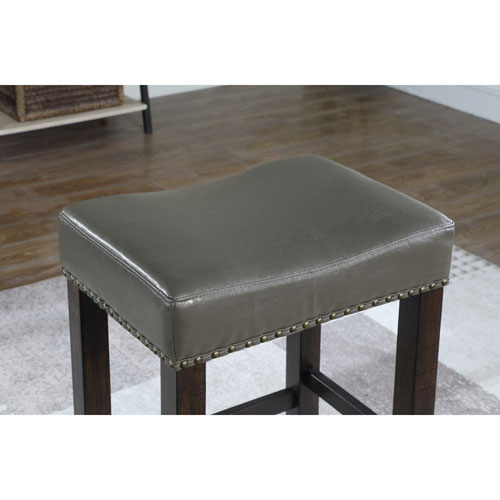 American Woodcrafters Stockton Slate Grey Backless Bar