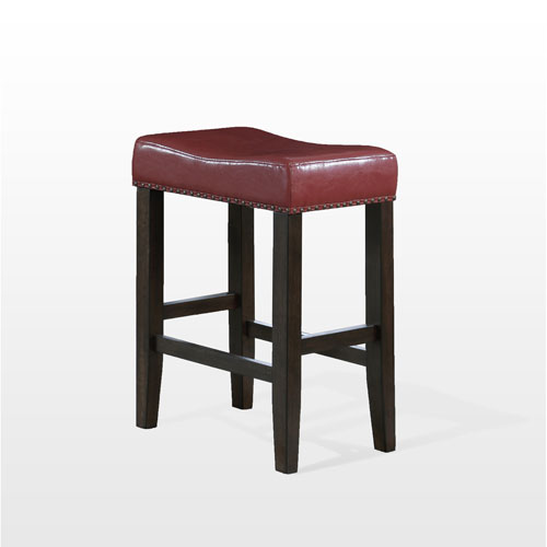 American Woodcrafters Jersey Backless Counter Stool, Crimson