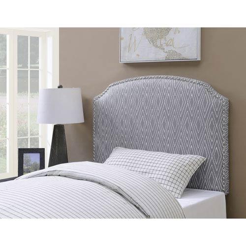 Simone Grey Pattern Twin Upholstered Head Board