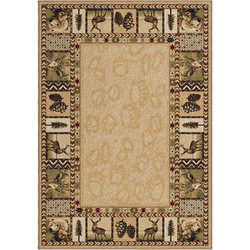 Orian Rugs Oxford Gold, Cream and Beige Rectangular: 5 Ft. 3 In. x 7 Ft. 6 In. Rug