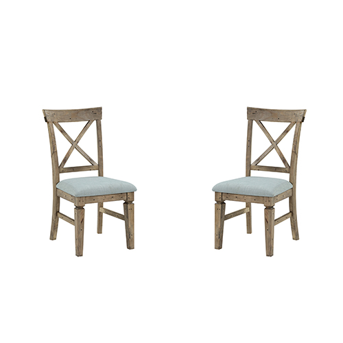 Grace Reclaimed Pine Dining Chair, Set 0F 2
