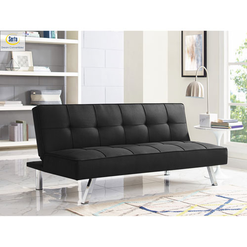 Cambridge Black Convertible Sofa