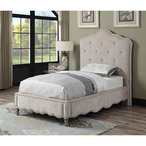 Starry Night Twin Upholstered Bed Kit w/Crystal Trim