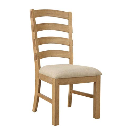 Bel Air Side Chair Ladderback w/Upholstered Seat, Set of 2