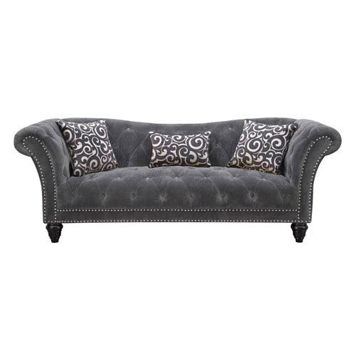 Hutton Sofa Nailhead w/2 Pillows and 1 Kidney Pillow