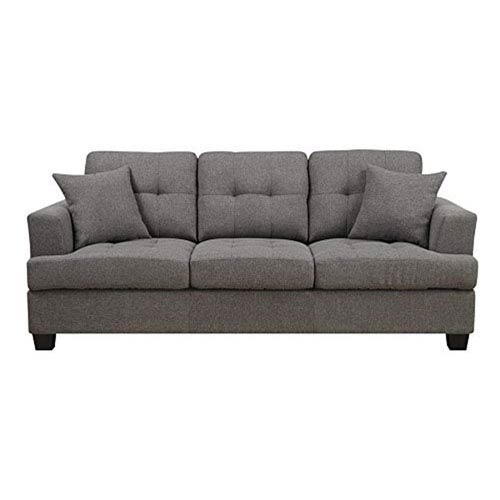 Emerald Home Furnishings Clearview Sofa w/2 Pillows Grey