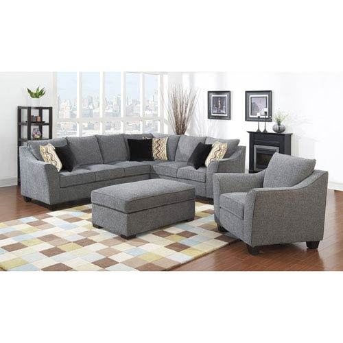 Linden 3-Piece Left Side Facing Sofa with Two Pillows