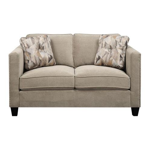 Emerald Home Furnishings Focus Loveseat Granite w/2 Accent Pillows