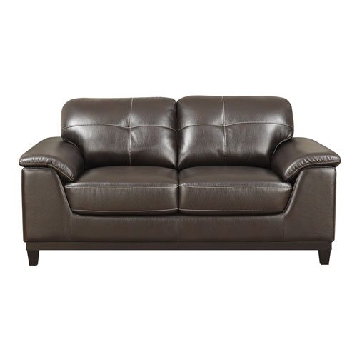 Emerald Home Furnishings Marquis Loveseat Walnut Brown Pu