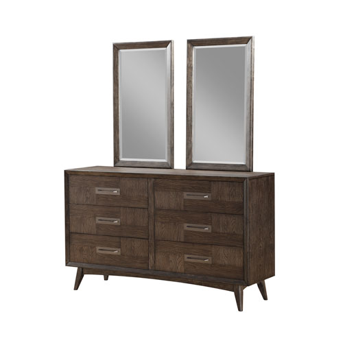 Emerald Home Millenium Weathered Oak Twin Mirrors