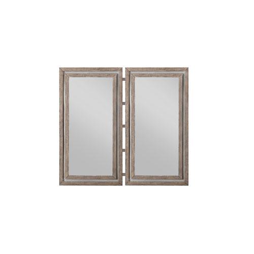 Emerald Home Vista Weathered Oak Twin Mirrors