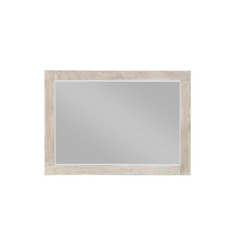 Emerald Home Furnishings Emerald Home Nova Sterling Gray Landscape Mirror with Beveled Edge