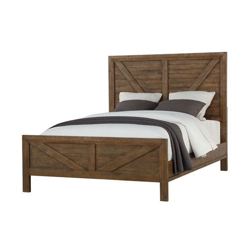 Afton Pine Valley Solid Wood King Bed