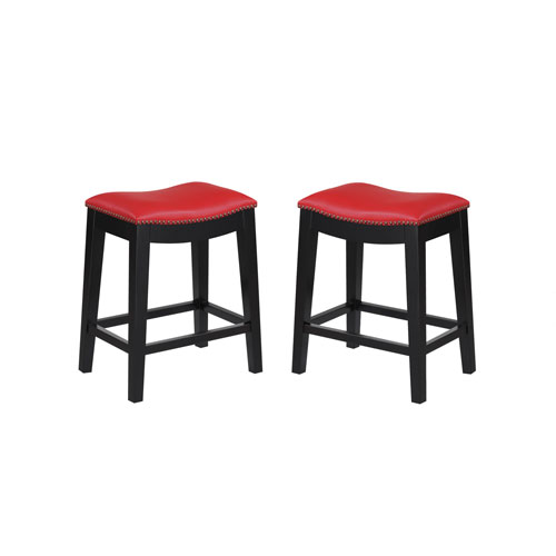 Emerald Home Furnishings Briar 24 Inch Red Barstool Set Of 2