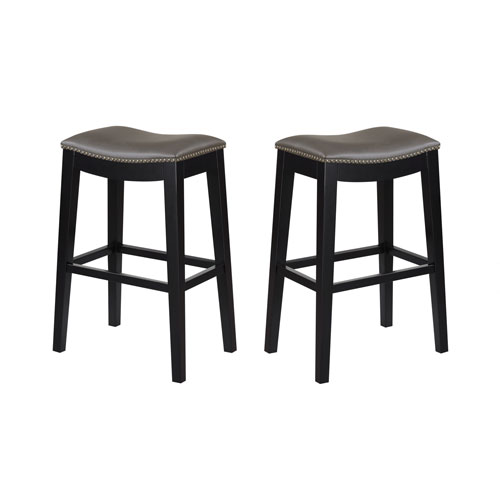 Magnificent Selby Gray 30 Inch Barstool Set Of 2 Andrewgaddart Wooden Chair Designs For Living Room Andrewgaddartcom