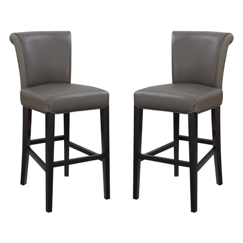 Emerald Home Furnishings Emerald Home Briar III 24-Inch Gray Barstool- Set of 2