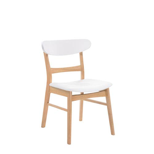 Emerald Home Furnishings Simplicity Side Chair Wood Back with Upholstered Seat, Set of 2