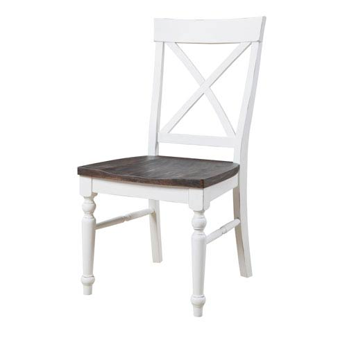Mountain Retreat X-Back Dining Chair with Wood Seat, Set of 2
