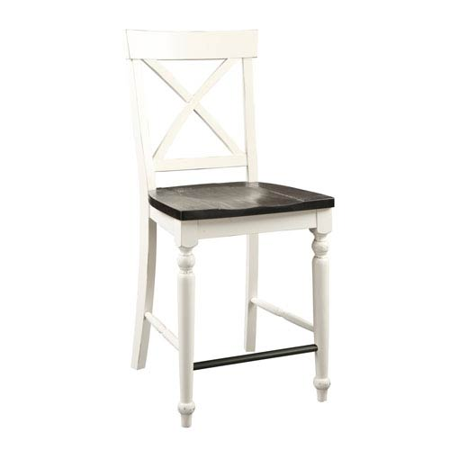 Mountain Retreat X-Back Barstool with Wood Seat, Set of 2