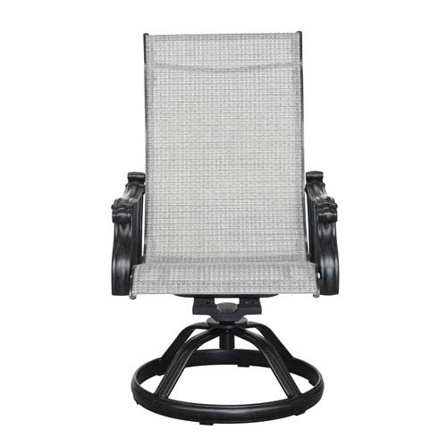 Versailles Sling Swivel Chair, Set of 2