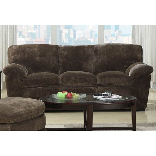 Emerald Home Furnishings Devon Champion Mocha Pillow Top Sofa