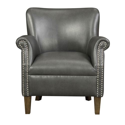 Oscar Accent Chair-Dark Gray