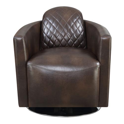 Emerald Home Furnishings Emerald Home Dundee Brown Swivel Chair