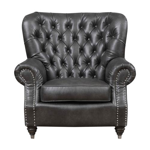 Emerald Home Furnishings Capone Accent Chair-Charcoal