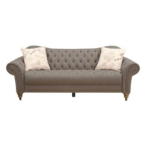 Emerald Home Furnishings Soriana Sofa with 2 Accent Pillows