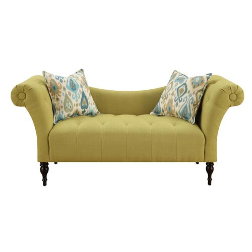 Lucille Settee with 2 Accent Pillows