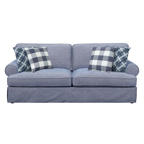 Emerald Home Furnishings Emerald Home Mountain Retreat Pool Blue Sofa with 4 Pillows