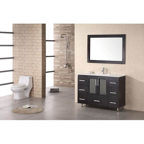Stanton Dark Espresso 48 Inch Modern Vanity with Drop in Sink