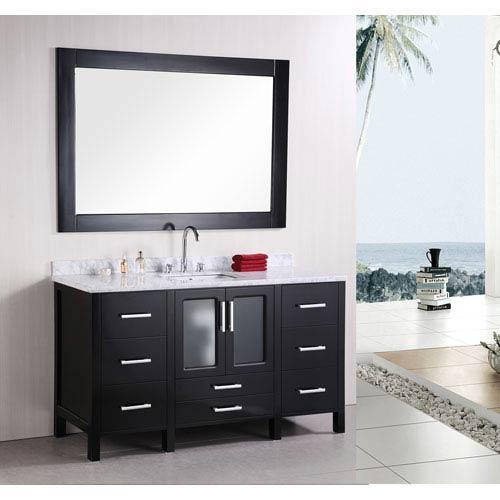 Design Element Stanton Dark Espresso 60 Inch Single Modern Bathroom Vanity