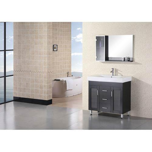 Design Element Miami Dark Espresso 36 Inch Single Sink Vanity Set
