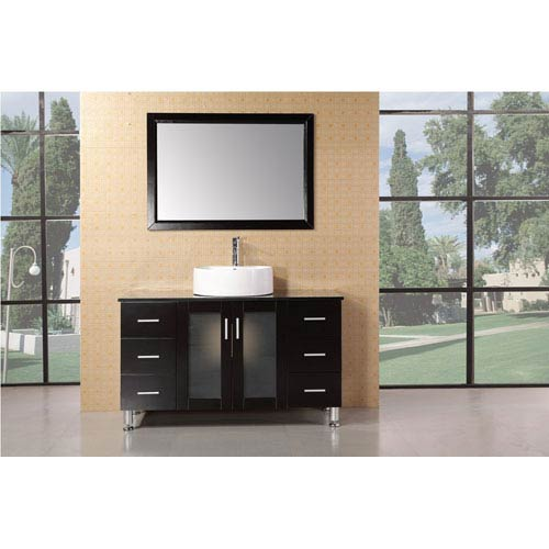 Malibu Dark Espresso 48 Inch Single Sink Modern Bathroom Vanity